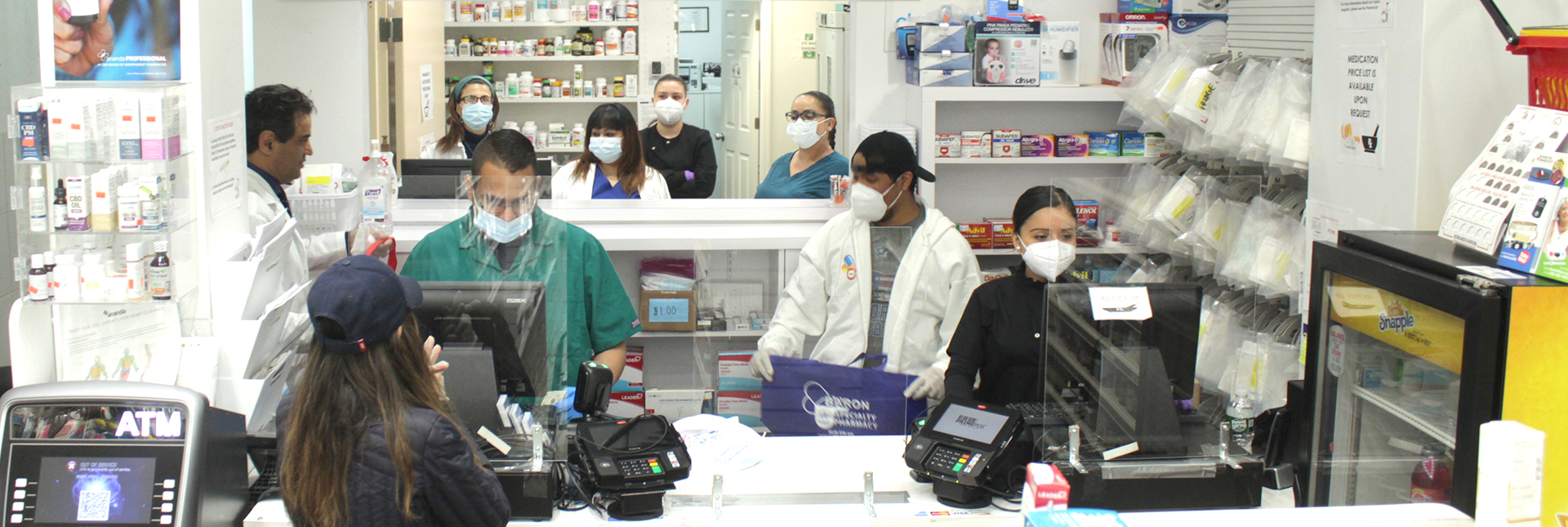two pharmacists filing the medicines